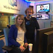 Live in de uitzending bij NH nieuws radio